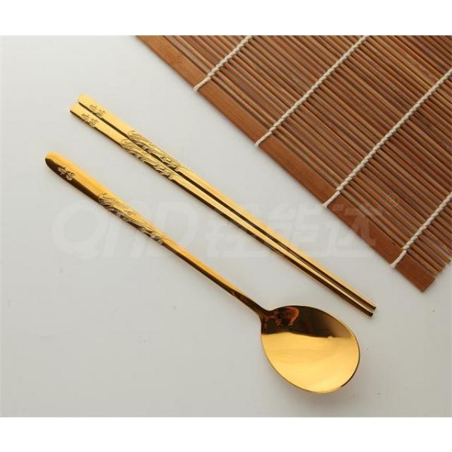 全镀金-喜鹊 匙筷