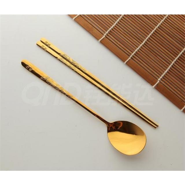 全镀金-绣眼 匙筷