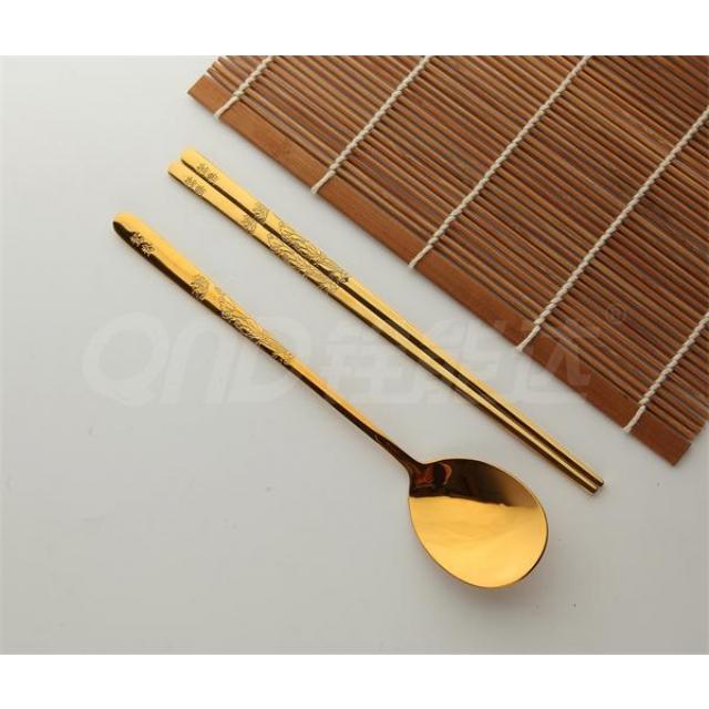 全镀金-鸳鸯 匙筷
